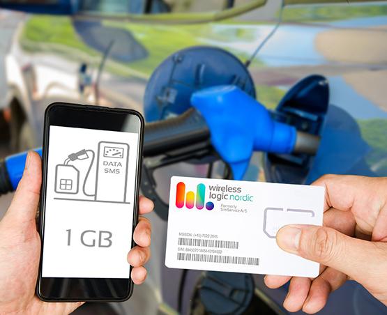 Optankning af SIM-kort abonnement med ekstra SMS eller data