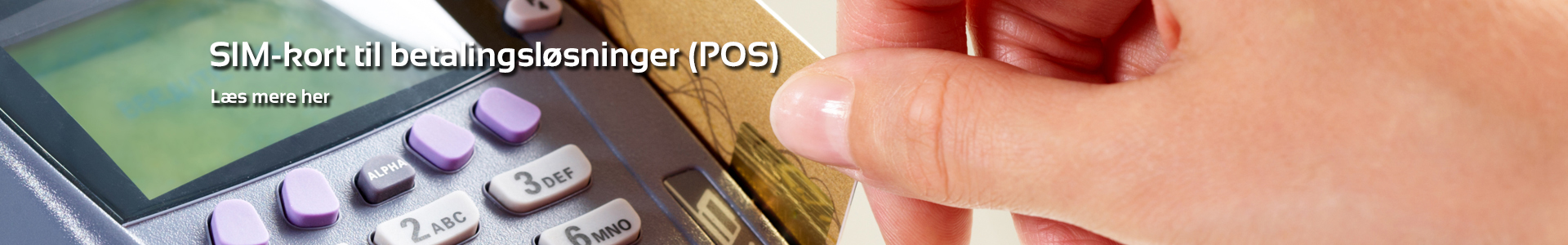 SIM-kort til betalingsløsninger (POS)